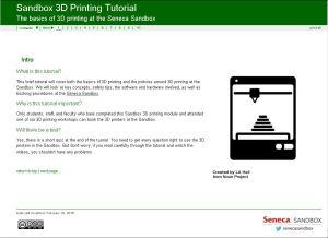 Screenshot of 3D Printing Tutorial